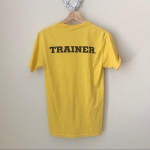 TRAINER yellow tee shirt